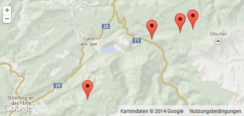Lind Horn Quartiere - Karte